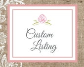 "Custom Listing - One 2"" Ivory Flower Hair Comb"
