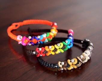 Thai handmade colorfully traditonal on the beach/summer bracelet/Cute/Hemp/Macrame/funny/fresh/New arrival on christmas/Promotion price