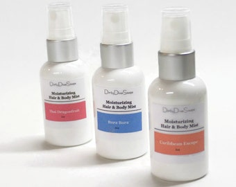 Moisturizing Hair and Body Mist, Perfumed Body Spray ,Alcohol Free