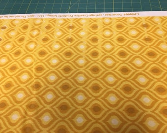 06333 -  Springs Creative Products Quilting Basics Ikat  in Golden color - 1 yard small defect running thruout