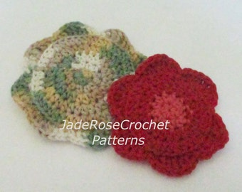 Crochet Kitchen Scrubby Pattern, Flower Dish Cloths Pattern, Dish Scrubby Cloths Crochet Pattern,Flower Scrubby Crochet Pattern, PDF516
