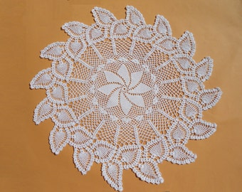 "Pineapple crochet doily, large crochet doily, lace tablecloth, crochet centerpiece, 26 """
