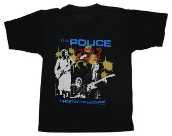 The Police Ghost In The Machine 1982 North American Tour t Shirt Vintage concert 1980s Rock tee