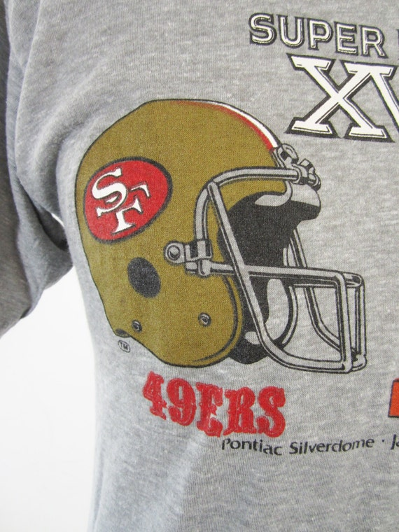 Vintage 1982 super bowl t shirt 49ers vs bengals doux et fin for Vintage bengals t shirts