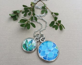 SUCCULENT JEWELRY | Green and Blue Necklace