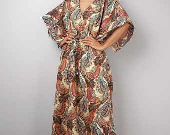 Maxi Dress / Kaftan Summer Dress / Paisley Maxi Dress : Bohemian Kaftan Collection No.1
