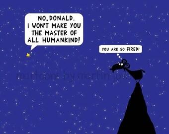 President Donald Trump FBI Russia Investigation scandal cartoon