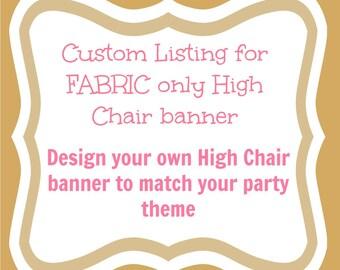 High Chair Banner - 1st birthday banner - girl birthday banner - cake smash props - 1st birthday party - boy birthday banner