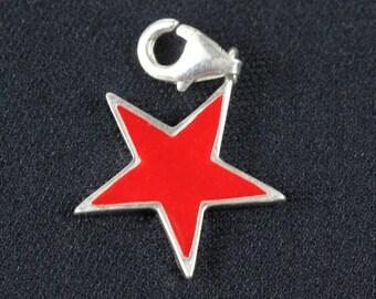 Star charm pendant charm bracelet Miniblings star star Christmas Red