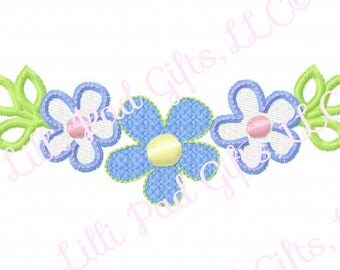 Flower Sweet Border - Machine Embroidery - 9 sizes