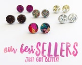 Mini Glitter Pop Studs - Choose Your Own Colour