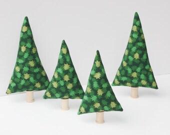Tiny forest pine evergreen plush toy stuffed fabric Christmas trees decoration stuffed soft trees, room decor gift idea