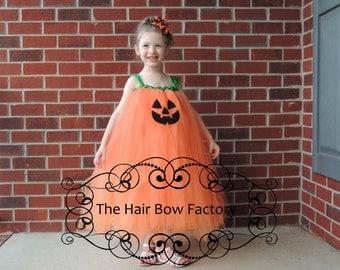 The Hair Bow Factory Pumpkin Jack o Lantern Halloween Tutu Dress Size 12-24 Months to Size 12