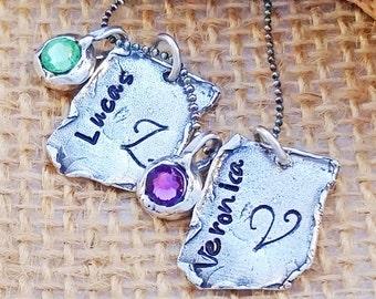 Personalized Necklace - Custom Boho Style Neckace - Personalized Mom Necklace - Mother's Day Gift - Name Necklace - Boho