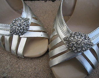Bridal Rhinestone Shoe Clips Wedding Shoe Accessory -- ELINA