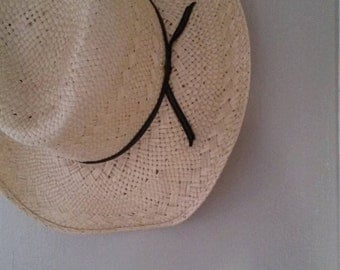SALE // Resistol Cowboy Hat // Country Western Straw Woven Lapaloma //  Made In USA // Boho Bohemian Sunhat Kids Small Size