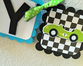 Race Car Birthday Banner, Car Birthday Banner, Race Car Party, Race Car Party Garland, Race Car Banner, Car Banner, Car Party Decorations