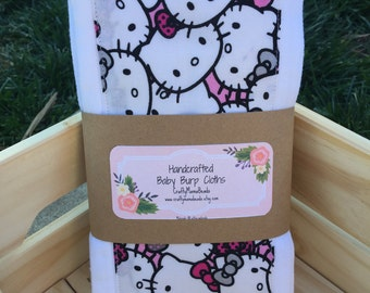 Hello Kitty Burp Cloth Set