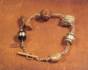 Men's Bracelet Wire And Stones By Decojumeau