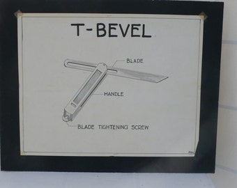 vintage mechanical drafting, T-Bevel, Industrial design,Woodworking shop, from Diz Has Neat Stuff