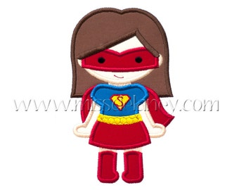 Super Girl (Bob with Mask) Applique Design