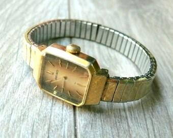 SEIKO ladies Rare Brown Dial mechanical 1970s vintage wrist watch
