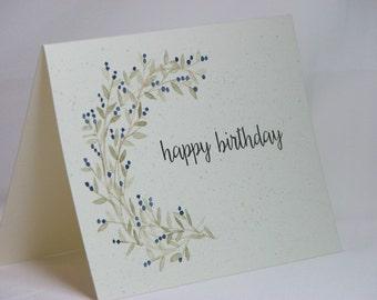 OOAK Handpainted Happy Birthday Greeting Card