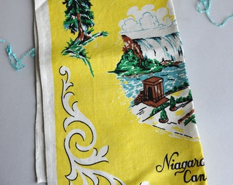"Vintage Linen Tea Towel ""Niagara Falls"""