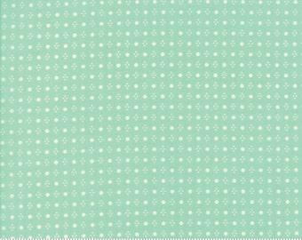 Handmade cotton Aqua fabric by Bonnie and Camille for Moda fabric 55143 12