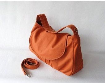 Back To School SALE - 30% Fortuner in Pumpkin (Water Resistant) Purse / Laptop / Shoulder bag / Messenger Bag / Handbag/Diaper Bag/ School B