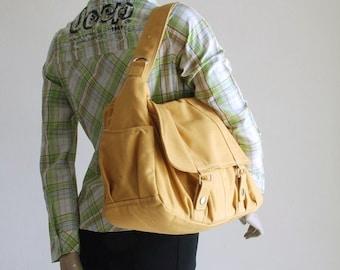 Halloween SALE - 30% Pico2 in Mustard (Water Resistant) Purse / Laptop / Shopping Bag / Shoulder Bag/ Messenger Bag/Diaper Bag/ School Bag/