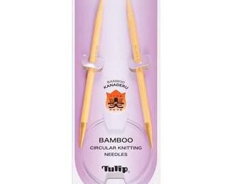 """Tulip 24"""" Bamboo Circular Knitting Needles in a Variety of Sizes"""