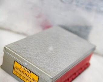 Vintage Kodak Slide Box Kodaslide Compartment File Made in USA Metal Storage Box