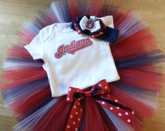 Cleveland Indians inspired tutu outfit