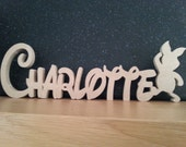 Craft names - Disney Style Font - Freestanding kids name plaque with Piglet shape