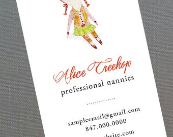 Business Card for Dollmaker, Rag Doll,Doll Crafter, Set of 50