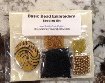 Basic Bead Embroidery Pendant Kit