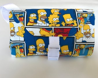 The Simpsons, Squares, Changing Pad Diaper Clutch