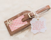 Key West Paradise Leather Luggage Tag