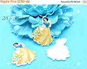 SALE Princess Snow White Planar Resin Cabochons Flatback Flat Back Scrapbooking Hair Bow Center Frame Card Making Crafts Embellishments