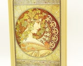 ON SALE Notebook - Vintage Painting - 160 Pages - alphonse mucha
