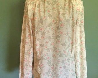 80s Floral Blouse, size Medium