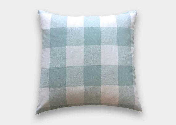 Items Similar To Snowy Blue Buffalo Check Throw Pillow