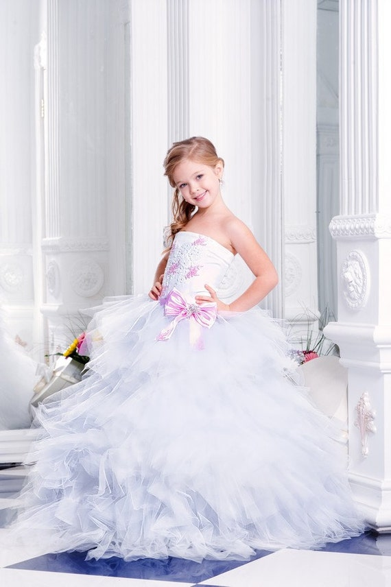 0597488ef852 Pixie Flower Girl Dress, wedding dress, mini bride dress, Girls Dresses,  Pageant