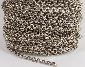 4.7mm Rolo Chain - Antique Brass - Made in the USA - CHG1.5-AS - Choose Your Length