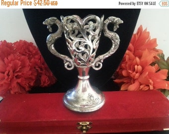 Now On Sale Vintage Dragon Vase, 1960's Goth Home Decor