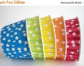 SALE 50% OFF Polka Dot Cupcake Wraps Candy Cups Birthday Favors Polka Dot Favors Rainbow Favors Cupcake Wrappers Baking Cups Cupcake Cups Mu