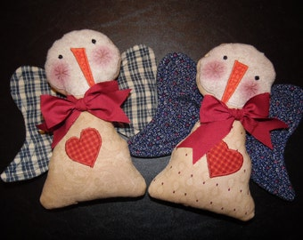 Primitive Whimsical Country SNOW ANGELS Dolls Tucks Bowl Fillers Ornies
