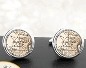 Map Cufflinks Las Vegas NV Cuff Links State of Nevada for Groomsmen Wedding Party Fathers Dads Men