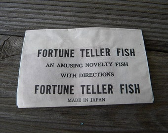 Fortune teller fish game 1950s vintage toy made in Japan